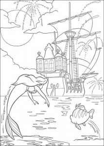 coloring page The party on the prince's ship