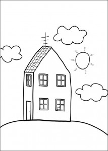 coloring page Peppa's house