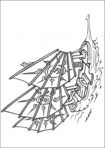 målarbok Fartyget
