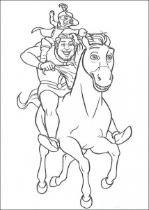 coloring page The fairy tale castle (1)