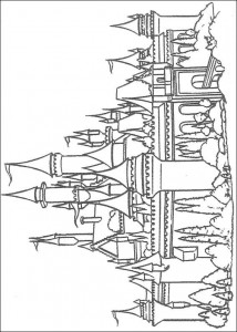 coloring page The fairy tale castle