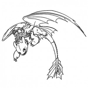 coloring page hiccup toothless 2
