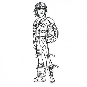coloring page hiccup