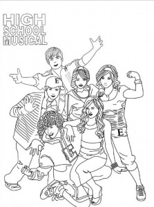 раскраска High School Musical (2)