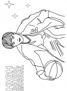 coloring page High School Musical