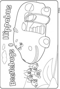 hippobus coloring page