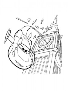 Dibujo para colorear Holley salta del Big Ben