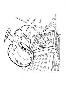 målarbok Holley hoppar ut ur Big Ben