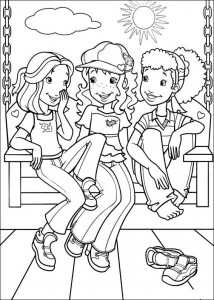 coloring page Hollie, Carrie og Amy (1)