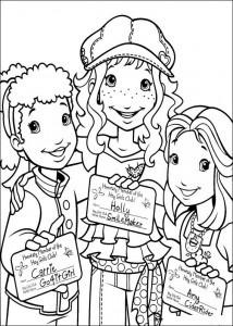 Dibujo para colorear Hollie, Carrie y Amy