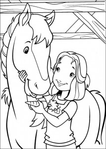 coloring page Hollie and her horse