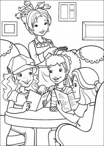 coloring page Hollie goes out to dinner