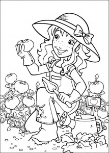 coloring page Hollie in the vegetable garden