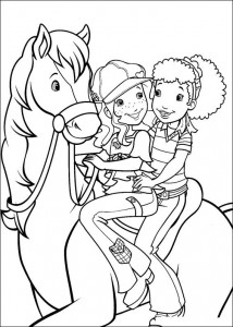 coloring page Hollie rir hest (1)