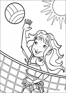 coloring page Hollie volleyball
