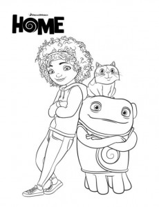 coloring home-dreamworks