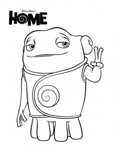 home-oh coloring page