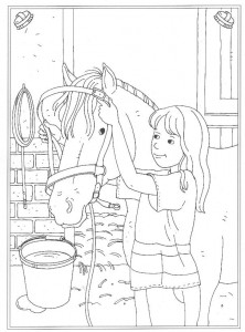 coloring page Bridle