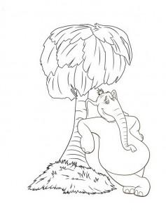 coloring page Horton by Dr. Seuss