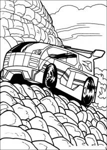 målarbok Hot Wheels (10)