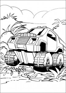 målarbok Hot Wheels (8)