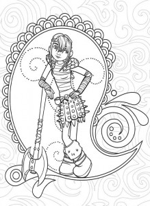 coloring page How to train your dragon (11)