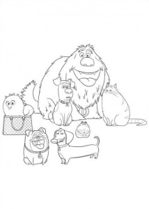 coloring page Pet secrets (Secret life of Pets) (15)