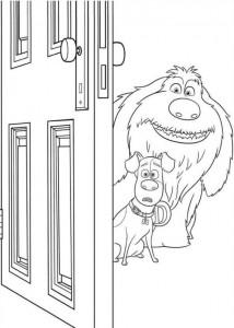 kleurplaat Huisdiergeheimen (Secret life of Pets) (19)