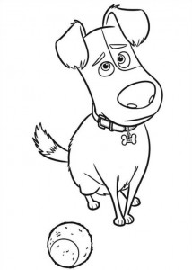 kleurplaat Huisdiergeheimen (Secret life of Pets) (4)