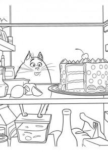 kleurplaat Huisdiergeheimen (Secret life of Pets) (8)
