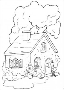 coloring page Grandma's house