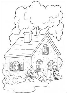 coloriage maison de grand-mère