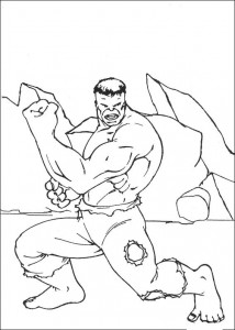 kleurplaat Hulk (10)