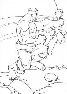 kleurplaat Hulk (11)