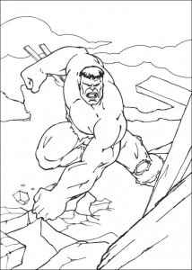 kleurplaat Hulk (14)