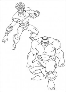 kleurplaat Hulk (15)
