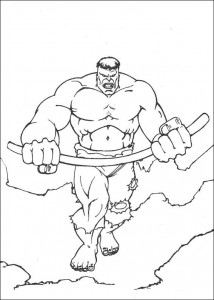 kleurplaat Hulk (17)