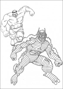 kleurplaat Hulk (18)