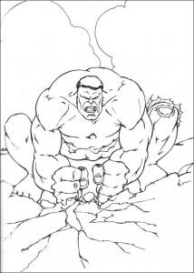 kleurplaat Hulk (20)