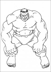 kleurplaat Hulk (22)