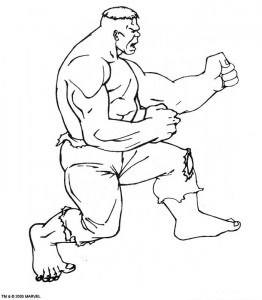 kleurplaat Hulk (23)