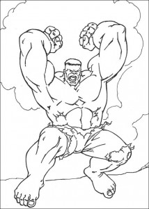 kleurplaat Hulk (24)