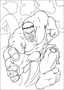 kleurplaat Hulk (25)