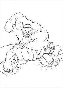 kleurplaat Hulk (27)