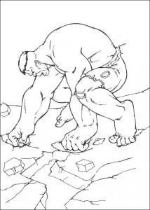 kleurplaat Hulk (28)