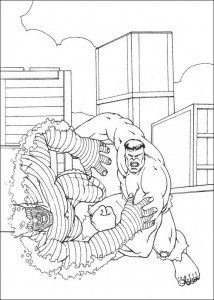 kleurplaat Hulk (29)