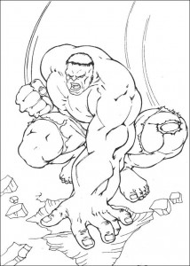 kleurplaat Hulk (31)