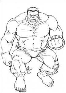 kleurplaat Hulk (34)