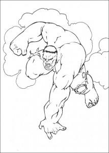 kleurplaat Hulk (36)