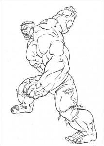kleurplaat Hulk (37)